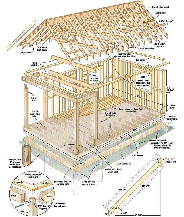 Drawn bulding  log cabin Pinterest 20+ plans on A