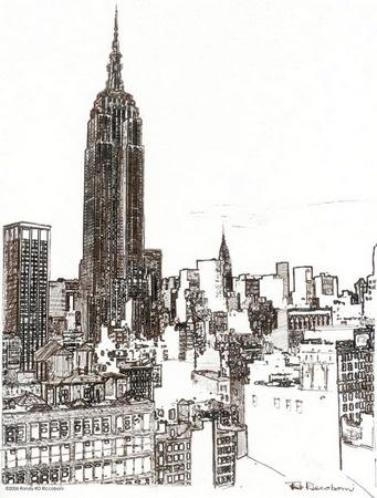 Drawn building pencil art Fundamentals RD and York New
