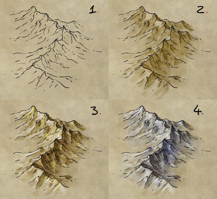 Drawn mountain isometric Range How to ideas of