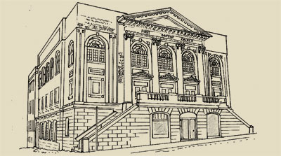 Drawn bulding  neoclassical architecture Heritage Foundation Neoclassical Victoria