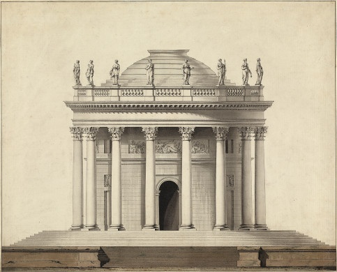 Drawn bulding  neoclassical architecture Pin and more on on
