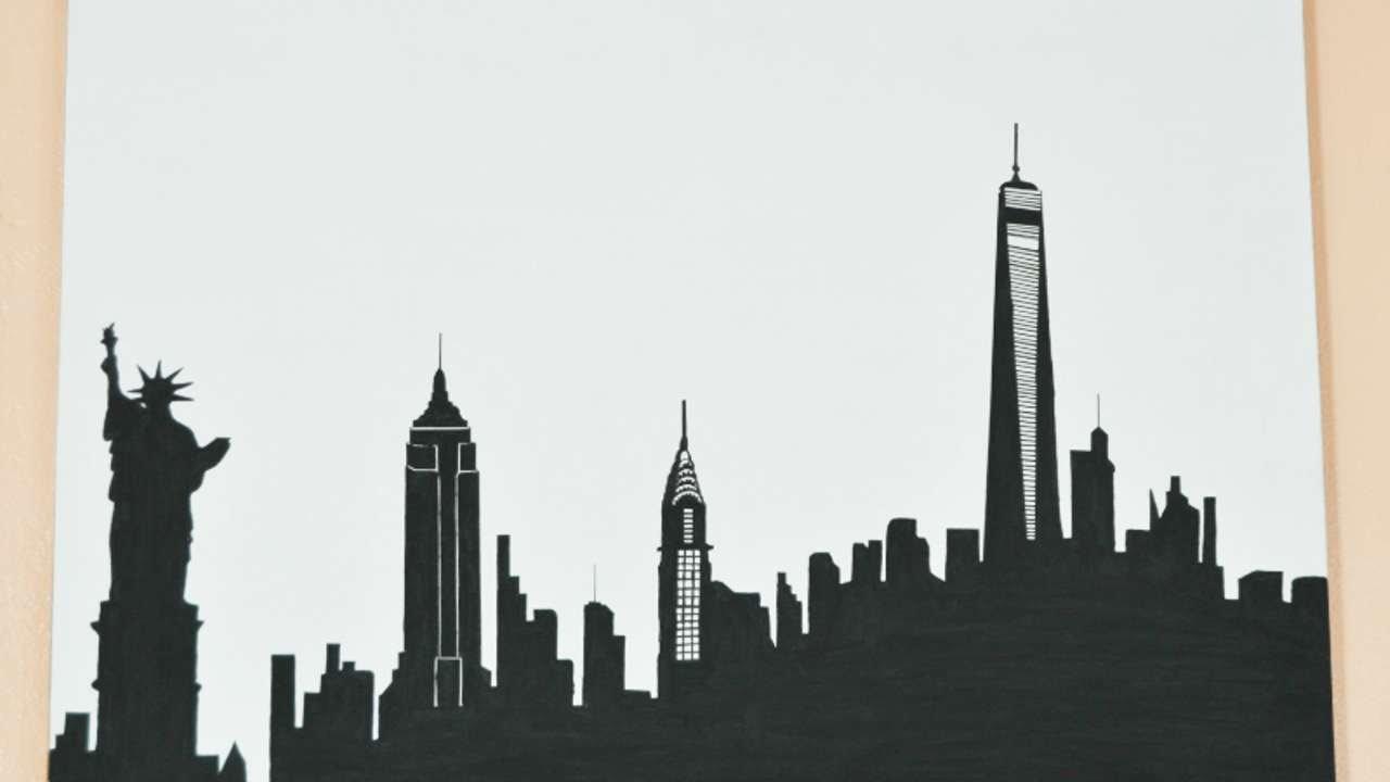 Drawn skyline simple DIY Skyline Crafts To How