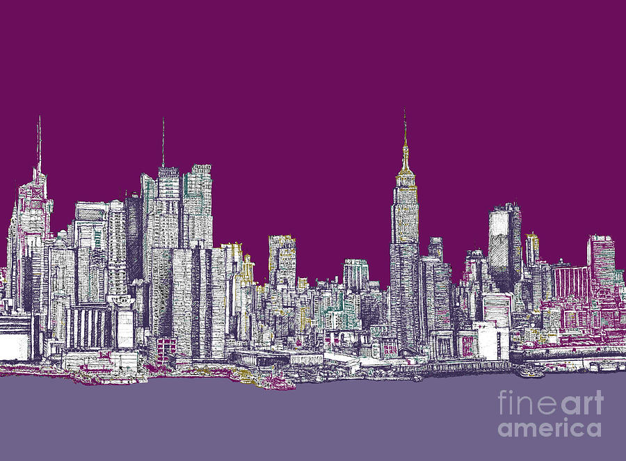 Drawn skyline pop art Nyc New Drawing York Art