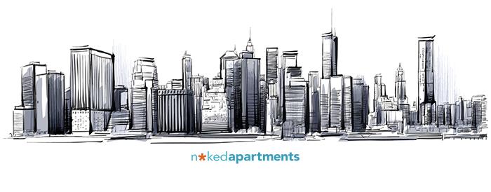 Drawn bulding  new york skyline A Residential skyline The drawing