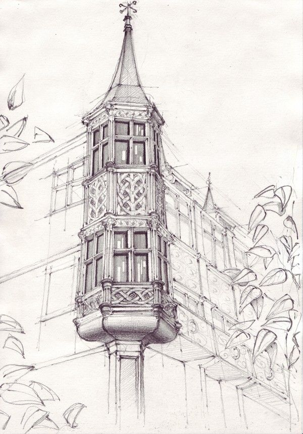 Drawn bulding  old library Popescu 25+ by on ideas
