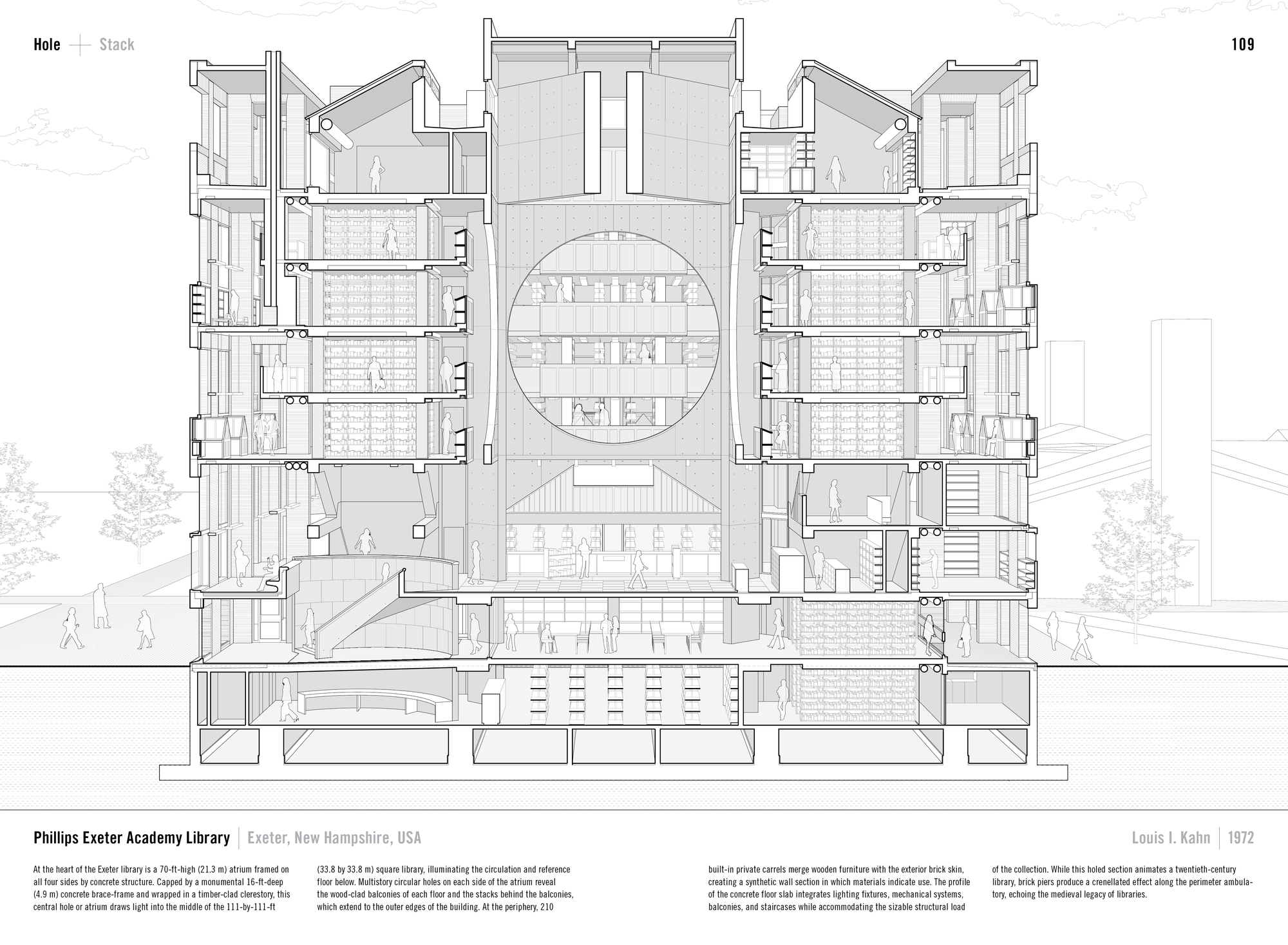 Drawn bulding  old library Of Architecture's the Academy Exeter