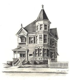 Drawn building old victorian house 8 Autumn drawings Search victorian