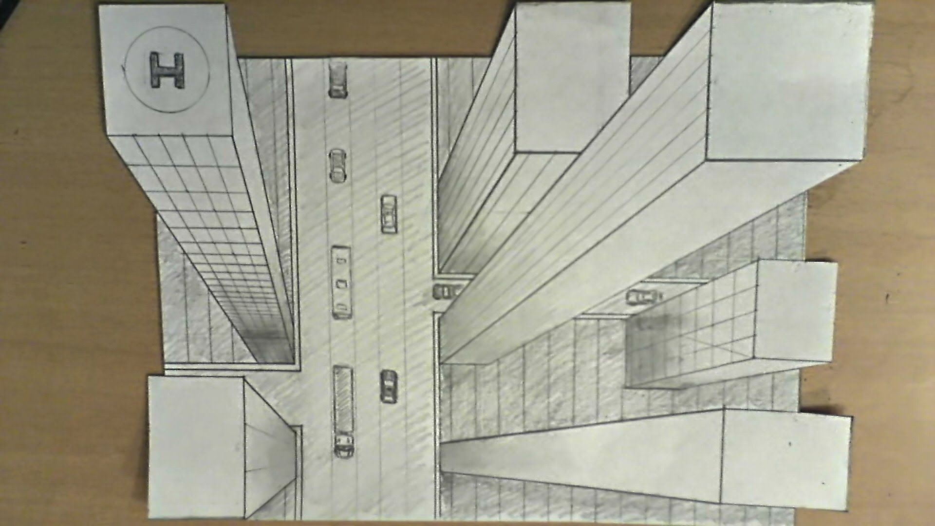 Drawn 3d art perspective High to illusion rise to
