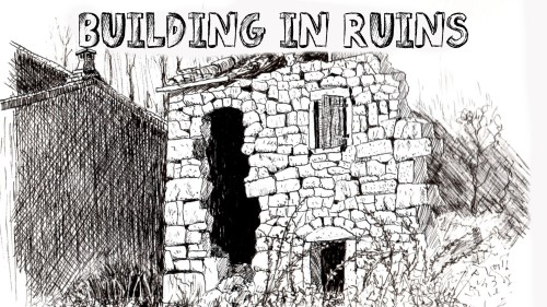 Drawn building pen and ink Drawing Ink) Ink and Art