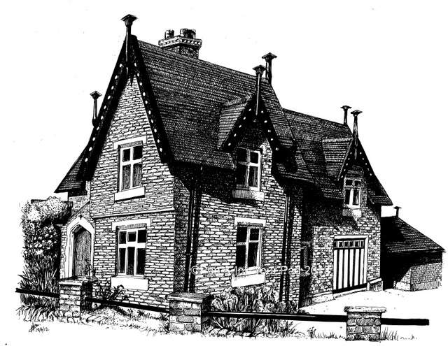 Drawn building pen and ink Ink Pen Ink Gallery &