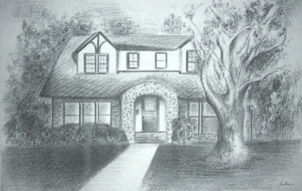 Drawn bulding  pencil art And drawing of Antin an
