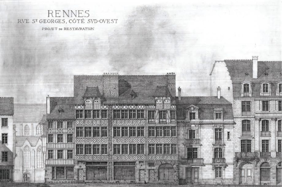 Drawn bulding  pencil art France chronicles by realistic architect