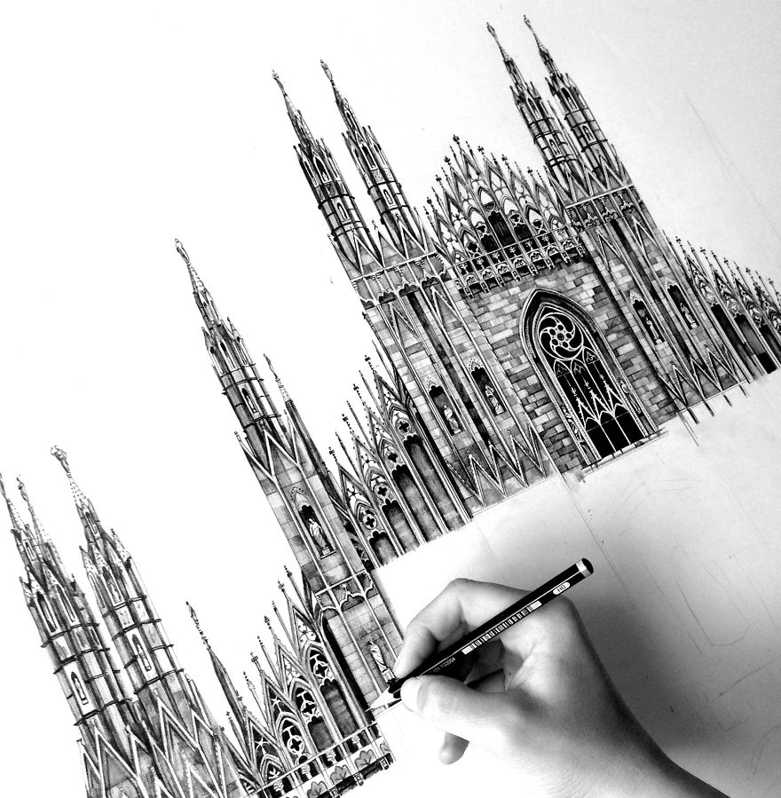 Drawn building contemporary Is Milan My Famous In