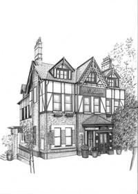 Drawn bulding  pencil art Drawings Drawings of Buildings Celebrities