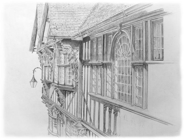 Drawn bulding  pencil art L Drawings of Artists: drawing