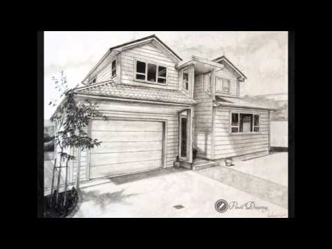 Drawn bulding  pencil art Drawing nice picture House drawing