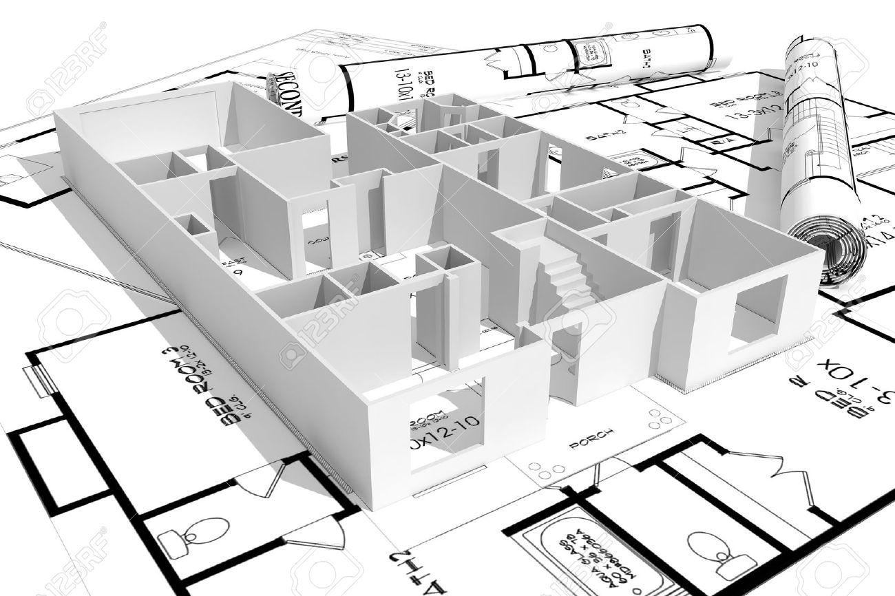 Drawn bulding  plan Plan Home concept Free phoebus