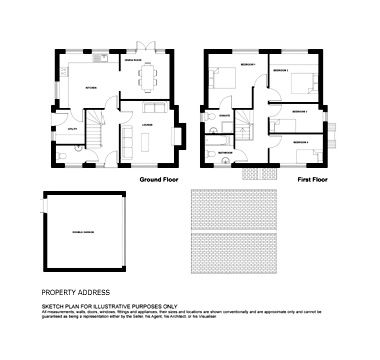 Drawn bulding  plan Building and services Plan floor