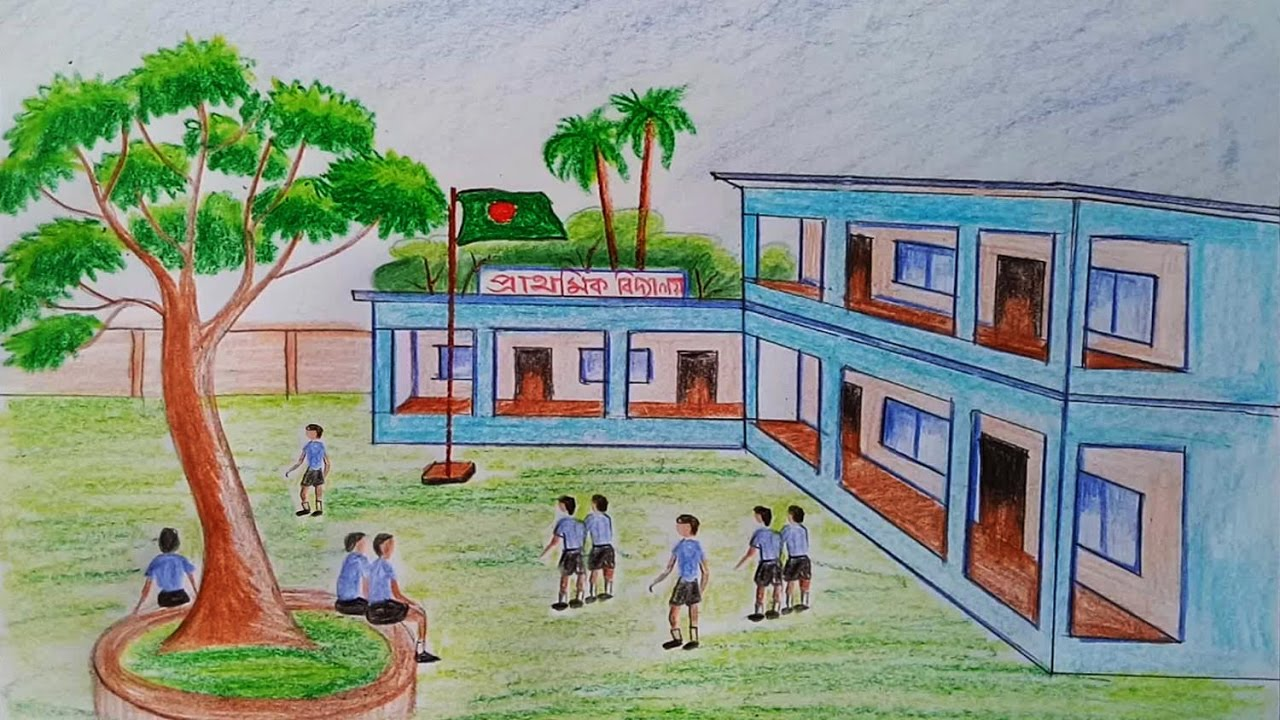 Drawn scenery outstanding Draw (very School easy) by