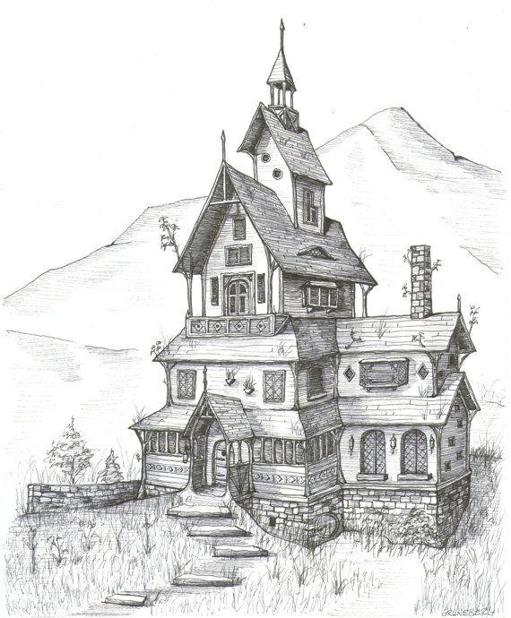 Drawn village village home #14