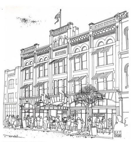 Drawn bulding  street scene Cafe of Street Pinterest buildings