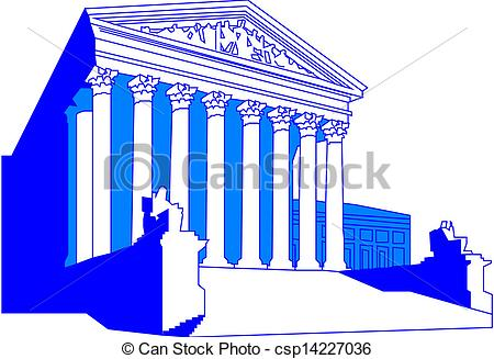 Drawn building supreme court building Building Building Vectors csp14227036 csp14227036