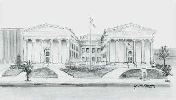 Drawn building supreme court building Sample Court Sketch Building