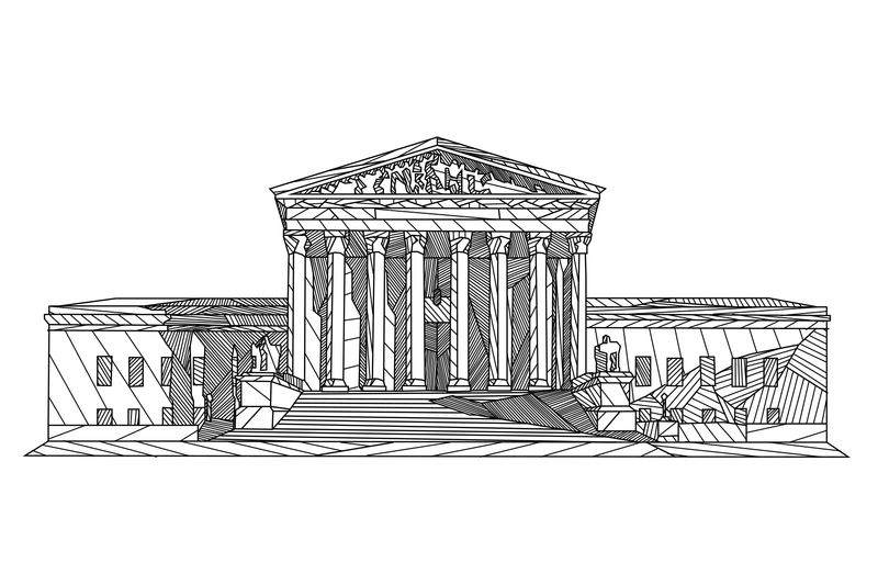 Drawn building supreme court building D of Perfect Supreme Radiolab