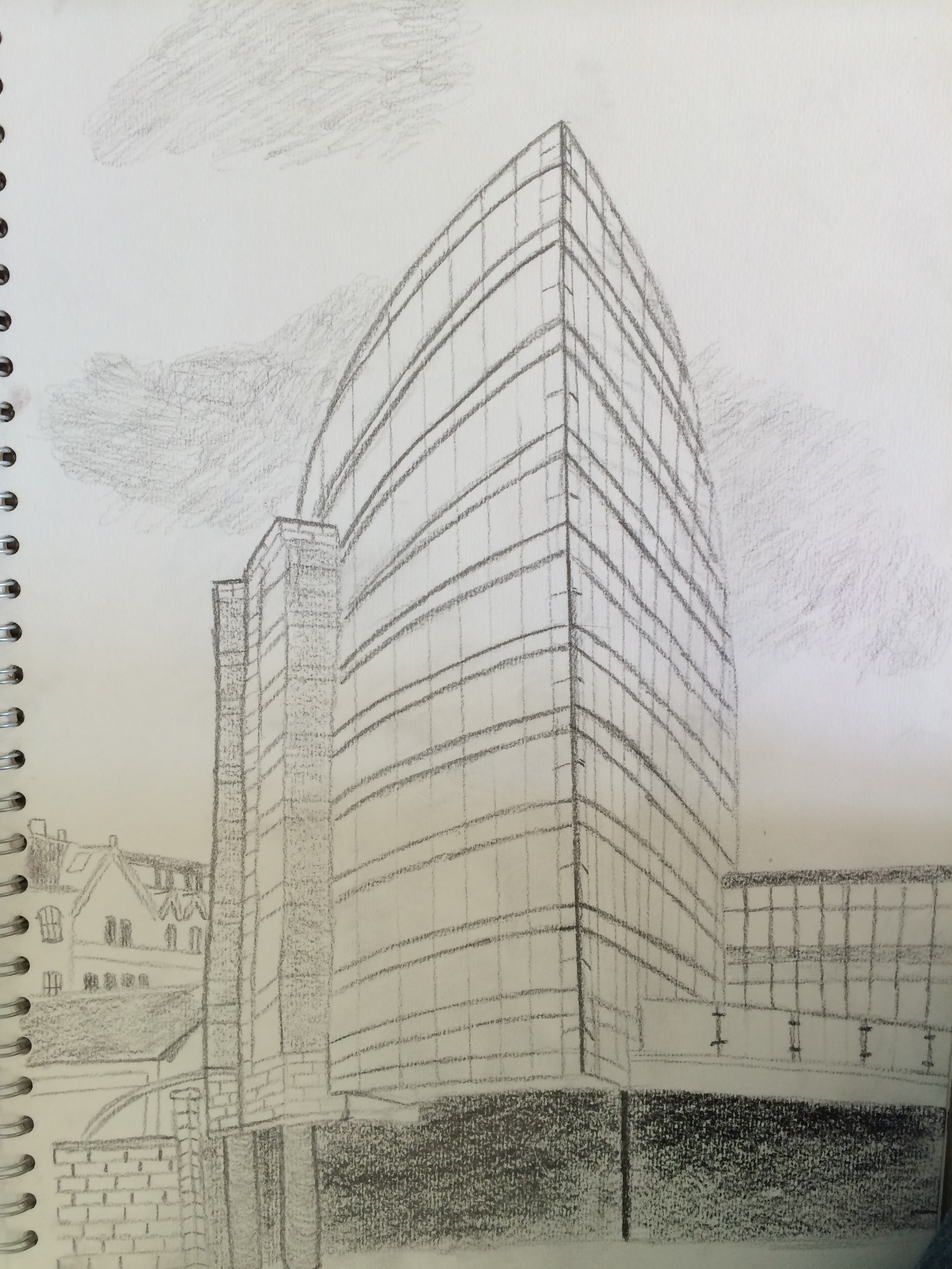 Drawn bulding  tall building Drawn Observational and Gatehaus sketch