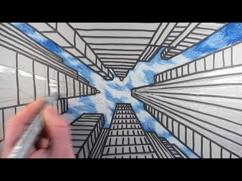 Drawn sky real  Skyscrapers Draw using Buildings