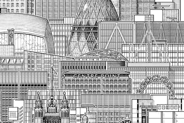 Drawn bulding  tall building Mike Lofty composite years Cathedral