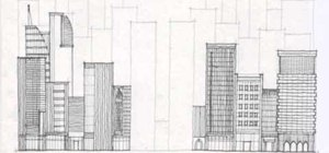 Drawn bulding  tall building Draw skyscrapers city buildings mile