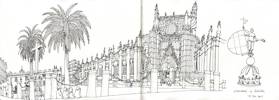 Drawn bulding  tall building Spain Sketches my Trip Blogs