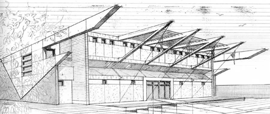Drawn bulding  technical drawing Perspective architecture architecture Google