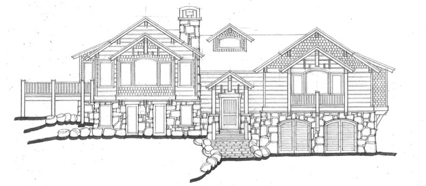 Drawn bulding  technical drawing  Breckenridge Architecture: Architecture: Neely
