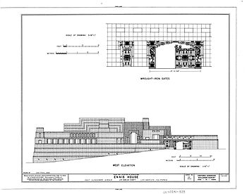 Drawn bulding  technical drawing For drawing drawing Hand facade