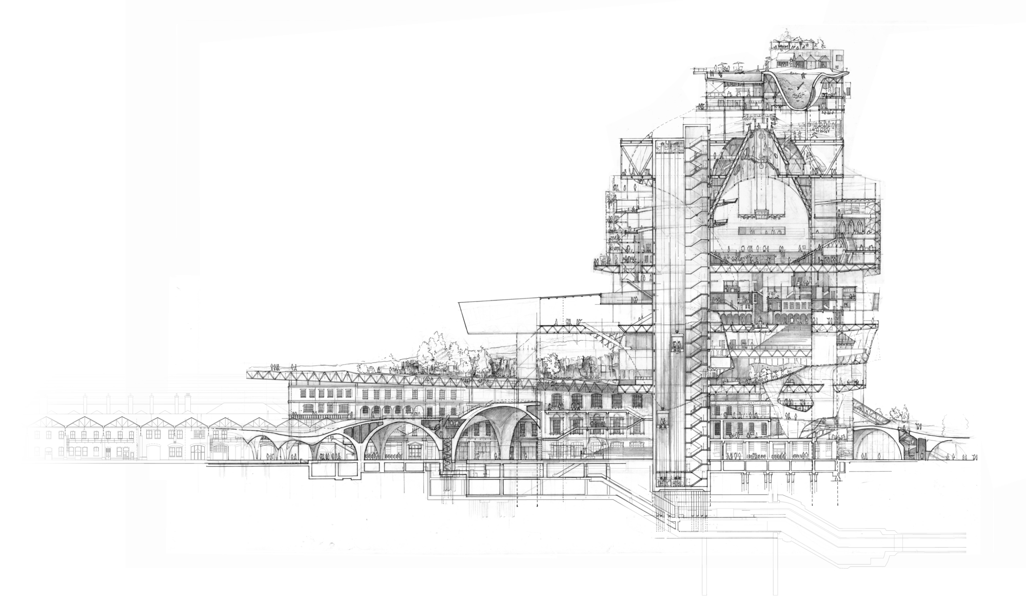 Drawn bulding  technical drawing This architecture Stuart Drawing