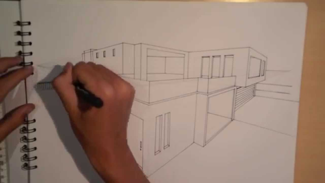 Drawn hosue dream house DRAW ARCHITECTURE PERSPECTIVE) (2 #1