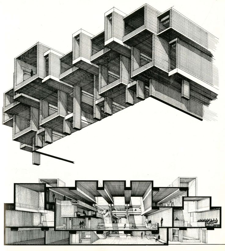 Drawn bulding  technical drawing The is Pinterest products Architizer