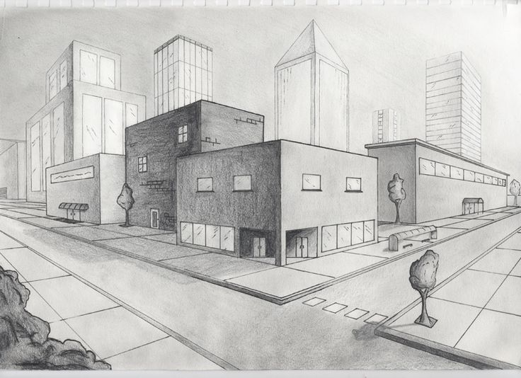 Drawn scenic city building Perspective Best city Search Google