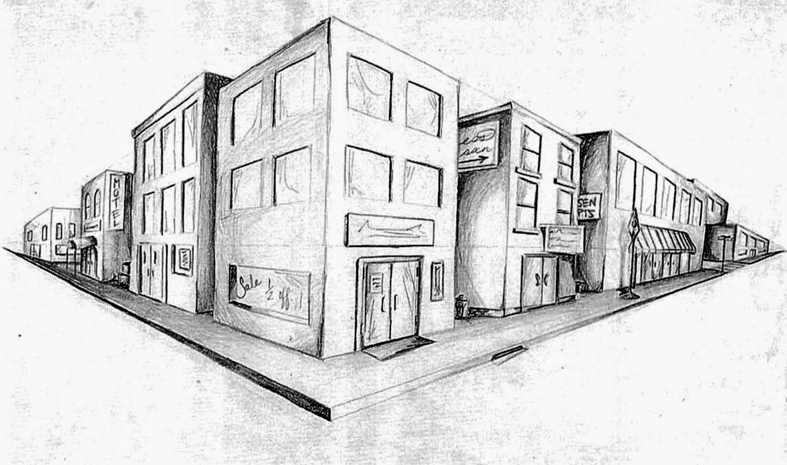 Drawn bulding  vanishing point What is side points of