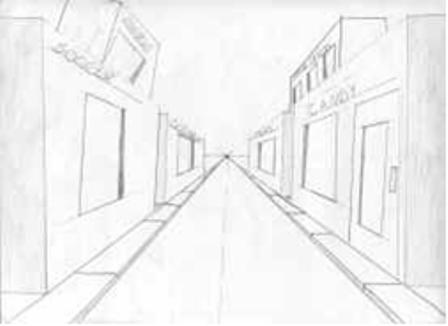 Drawn bulding  vanishing point On Wikipedia Two opas 17
