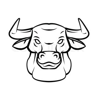 Drawn bull Head bull step to How