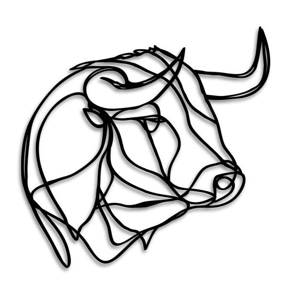 Drawn bull bull head Wall Bull decor Loading Art