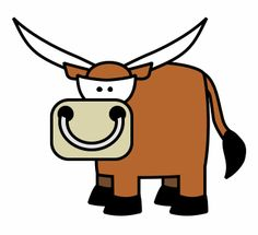 Drawn bull easy With angry and cartoon mean