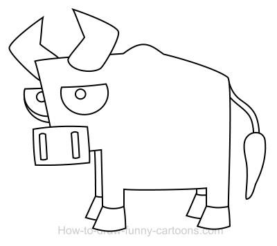 Drawn bull easy A  bull Drawing cartoon