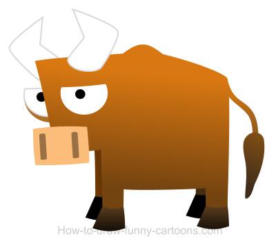 Drawn bull easy Drawing Bull a cartoon cartoon