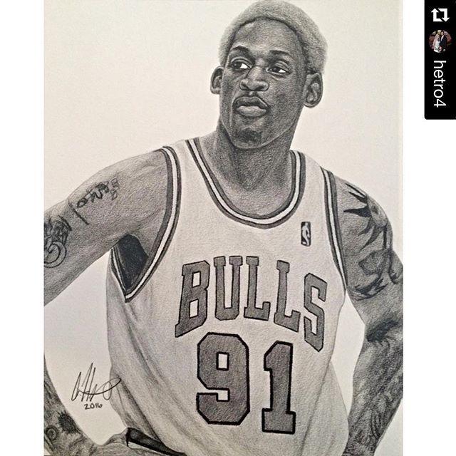 Drawn bull nba ・・・ #Repost basketball Instagram #Bulls