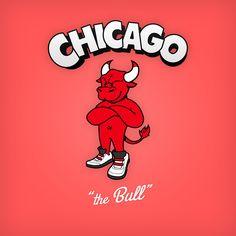 Drawn bull nba NBA Bull