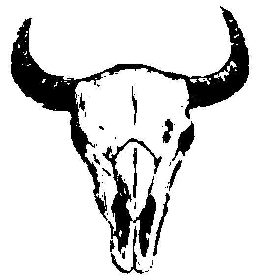 Drawn bull outline Best на Outline stencil Bison